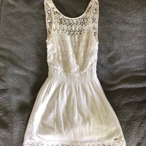 White Mini Dress (Floral Design)